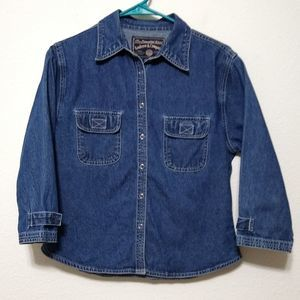 Vintage Andrew & Co denim button up shirt